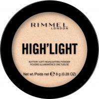 RIMMEL - HIGH'LIGHT Buttery Soft Highlighting Powder - Rozświetlacz do twarzy - 8 g