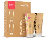 Resibo - Beauty Box Face Spa - Zestaw do pielęgnacji twarzy peeling + maska - 2 x 15 ml