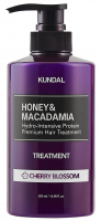 KUNDAL - Honey & Macadamia Hair Treatment - Hair conditioner - Cherry Blossom - 500 ml