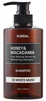 KUNDAL - Honey & Macadamia Refreshing Shampoo - Refreshing hair shampoo - White Musk - 500 ml