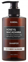 KUNDAL - Honey & Macadamia Refreshing Shampoo - Refreshing hair shampoo - Cherry Bloosom - 500 ml