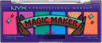 NYX Professional Makeup - Sex Education - Magic Maker - Color Palette - EYE SHADOW & PRESSED PIGMENT - Palette of 6 eyeshadows and pigments