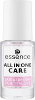 Essence - All In One Care - Base & Top Coat Multitalent - Baza i utrwalacz w jednym - 8 ml