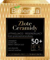 Bielenda - Złote Ceramidy - Liftingująco-regenerujący krem przeciwzmarszczkowy na dzień i noc - 50+ - 50 ml