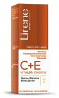 Lirene - C + E PRO VITAMIN ENERGY SERUM - Brightening and smoothing face and neck serum - 30+