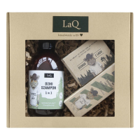 LaQ - Dzik- Gift set for men - Shampoo 300 ml + Soap 85 g + After Shave and Beard Oil 30 ml