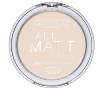 Catrice - All matt plus shine control powder - Puder neutralizujący świecenie skóry-010 - TRANSPARENT - 010 - TRANSPARENT