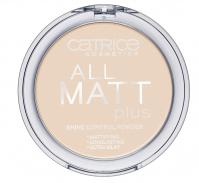 Catrice - All matt plus shine control powder - Puder neutralizujący świecenie skóry-015 - NATURAL BEIGE - 015 - NATURAL BEIGE