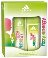 Adidas - ZESTAW - Fizzy energy - Dezodorant z atomizerem + dezodorant w spray'u dla kobiet