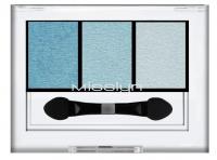 Misslyn - High shine trio eyeshadow - Potrójne cienie do powiek