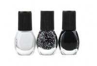 VIPERA - Artistic Manicure Set - Zestaw 3 lakierów-03 - BLACK & WHITE - 03 - BLACK & WHITE