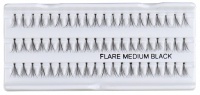 Inter-Vion - cluster eyelashes with glue - FLARE MEDIUM BLACK - FLARE MEDIUM BLACK