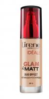 Lirene - IDEALE Glam & Matt Duo Effect - Fluid matująco-rozświetlający-02 - NATURALNY