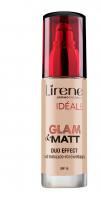 Lirene - IDEALE Glam & Matt Duo Effect - Fluid matująco-rozświetlający-01 - JASNY