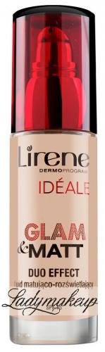 Lirene - IDEALE Glam & Matt Duo Effect - Fluid matująco-rozświetlający