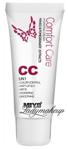 MIYO - Comfort Care Hydrating Cream - Krem koloryzujący CC 5w1