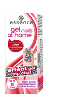 Essence - Gel nails at home - Top coat - Żelowy lakier nawirzchniowy-04 - GLITTERLAND - 04 - GLITTERLAND