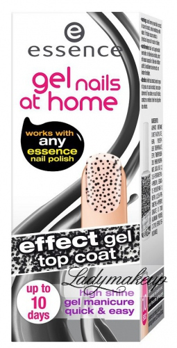 Essence - Gel nails at home - Top coat - Żelowy lakier nawirzchniowy