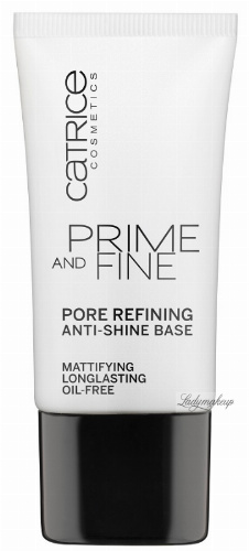 Catrice - PRIME AND FINE - Pore refining anti-shine base - 76883