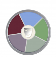 KRYOLAN - Supracolor - Rainbow Circle - Tłusta farba do makijażu - ART. 1306 - CREATURE FEATURE - CREATURE FEATURE