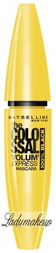 MAYBELLINE - The COLOSSAL VOLUM' EXPRESS MASCARA - Pogrubiający tusz do rzęs - 100% BLACK