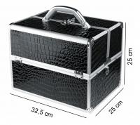 KUFER KOSMETYCZNY - PB1201-N BLACK (krokodyl)