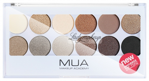 MUA - Eyeshadow Palette - Paleta cieni do powiek - UNDRESS ME TOO