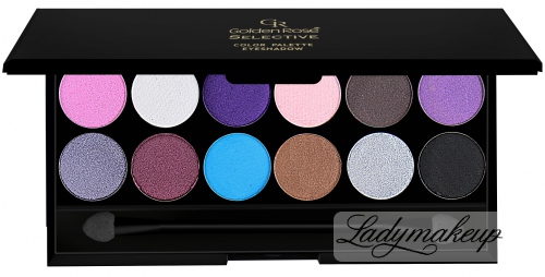Golden Rose - SELECTIVE - Color Palette Eyeshadow - Paleta 12 cieni do powiek - 03 - (P-GSP)