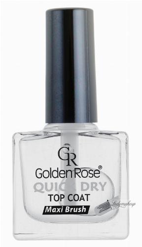 Golden Rose - QUICK DRY TOP COAT - Utrwalający lakier ochronny - O-GQD