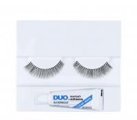 DUO - Professional eyelashes - Sztuczne rzęsy + klej-D11 - D11