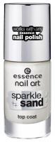 Essence - Nail art - Sparkle sand top coat - Lakier nawierzchniowy z efektem połyskującego piasku