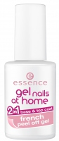 Essence - Gel nails at home - 2in1 base & top coat FRENCH peel off gel - Baza ułatwiająca zdjęcie lakieru i lakier nawierzchniowy french 2w1