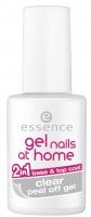 Essence - Gel nails at home - 2in1 base & top coat CLEAR peel off gel - Baza ułatwiająca zdjęcie lakieru i lakier nawierzchniowy 2w1