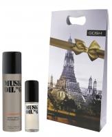 GOSH - ZESTAW - MUSK OIL - Woda toaletowa + dezodorant w spray'u