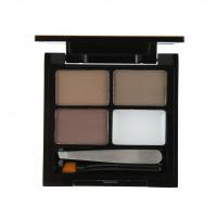 MAKEUP REVOLUTION - Focus & Fix Eyebrow Shaping Kit - Zestaw do stylizacji brwi-MEDIUM DARK - MEDIUM DARK