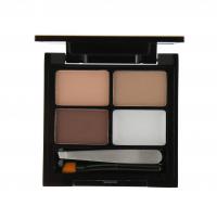 MAKEUP REVOLUTION - Focus & Fix Eyebrow Shaping Kit - Zestaw do stylizacji brwi-LIGHT MEDIUM - LIGHT MEDIUM