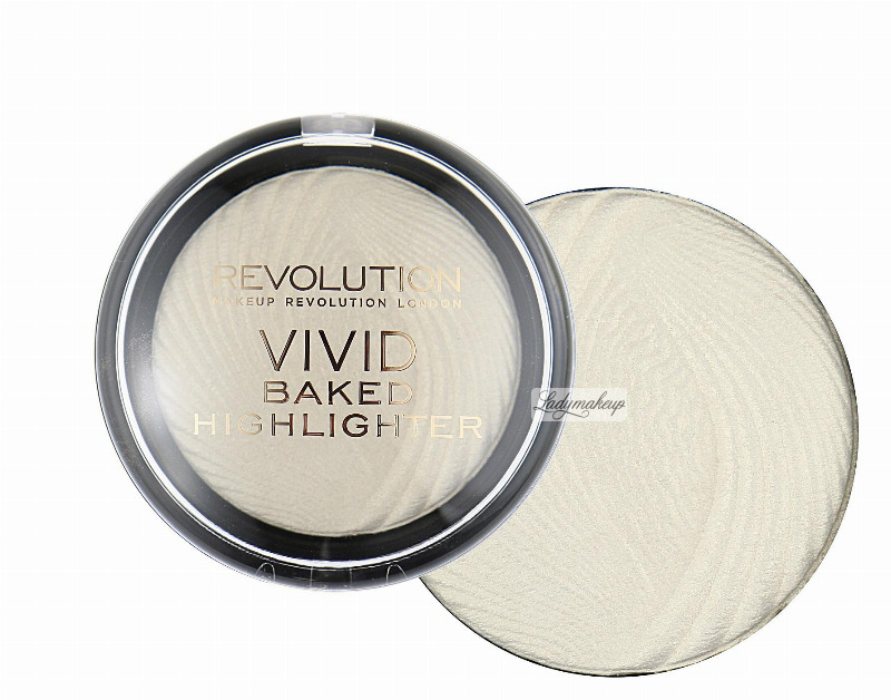 MAKEUP REVOLUTION - Vivid Baked Highlighter - Rozświetlacz. GOLDEN LIGHTS. GOLDEN LIGHTS