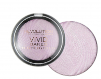 MAKEUP REVOLUTION - Vivid Baked Highlighter - Rozświetlacz - PINK LIGHTS - PINK LIGHTS