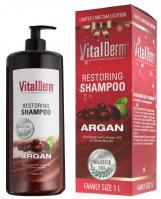 VitalDerm - Restoring Shampoo ARGAN - Odbudowujący szampon do włosów z olejem arganowym - EDYCJA LIMITOWANA - REF:1000
