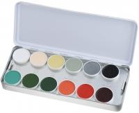 KRYOLAN - SUPRACOLOR - Make-up Palette with 24 colours - Paleta 24 tłustych farb do malowania twarzy - ART. 1008