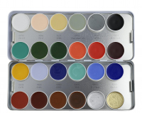 KRYOLAN - SUPRACOLOR - Make-up Palette with 24 colours - Paleta 24 tłustych farb do malowania twarzy - ART. 1008 - K - K