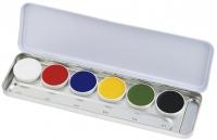 KRYOLAN - SUPRACOLOR - Make-up Palette with 6 colours - Paleta 6 tłustych farb do malowania twarzy - ART. 1007