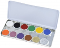 KRYOLAN - SUPRACOLOR - Make-up Palette with 12 colours - Paleta 12 tłustych farb do malowania twarzy - ART. 1004