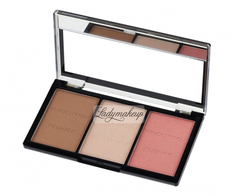 MAKEUP REVOLUTION - Ultra Sculpt / Brightening & Contour Kit - Face Contour Kit