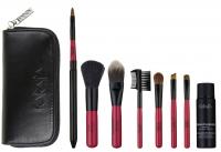 Karaja - Mini Brush Set - Zestawi mini pędzli do makijażu + płyn do czyszczenia