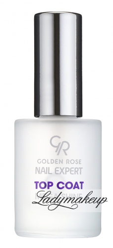 Golden Rose - Nail Expert - TOP COAT MEGA SHINE - Preparat nadający połysk i przedłużający trwałość lakieru