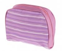 Inter-Vion - Kosmetyczka w kolorowe paski - 499383 E (FIOLETOWA)
