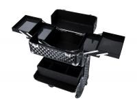 SORISE - Kufer kosmetyczny na rolkach 2w1 - BLACK 3D - JL-903T-B