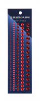 KRYOLAN - BODY JEWELS - Ozdoby do ciała - ART. 3078/01 - RED - RED