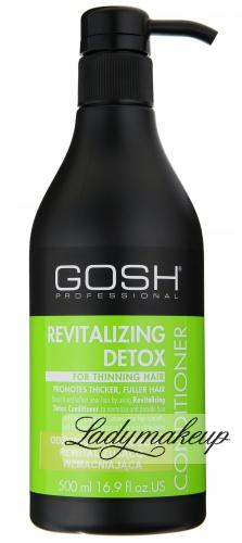 GOSH - REVITALIZING DETOX CONDITIONER - Odżywka do włosów rewitalizująco-wzmacniająca - 500 ml